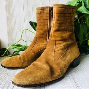 GUCCI • Vintage Suede Ankle Boots